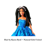 Handmade locs doll inspired by Kennetra Searcy
